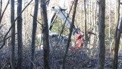 20 nov 2014 : Zone de défrichage Est, machine à abattre les arbres par (...)