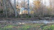 20 nov 2014 : Zone défrichage Sud, pelleteuse près chemin